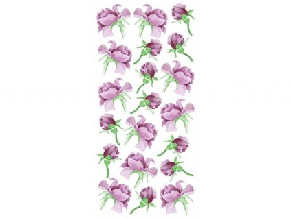 Dekorace na obkladačky, vzor Růže, 15x31cm