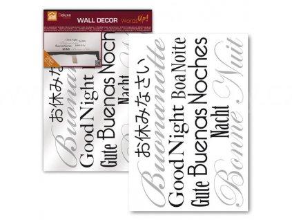 Dekorační samolepka na zeď - Dobrou noc, skladem 2ks!, 47x67cm