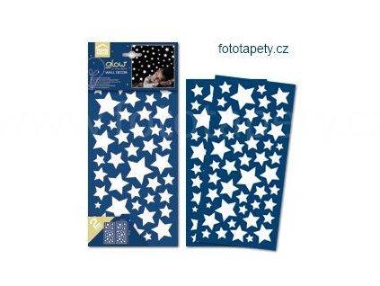Dětský svítící nástěnný vzor - Hvězdy a hvězdičky, 15x31cm