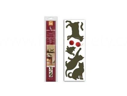 Samolepící dekorace stěn a nábytku, vzor Kočky, 35x100cm, doprodej