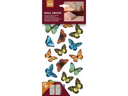Samolepky na zeď Colourful Butterflies - Pestrobarevní motýlci, 15x31cm