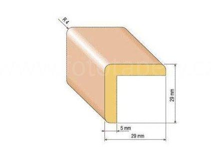 Dřevěná rohová lišta, 29x29 mm (Varianta borovice 1 metr)