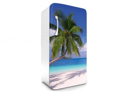 Samolepící fototapeta na lednici - Palmová pláž, 65x120cm, 008