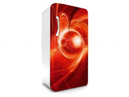 Samolepící fototapeta na lednici - Červený abstrakt, 65x120cm, 016