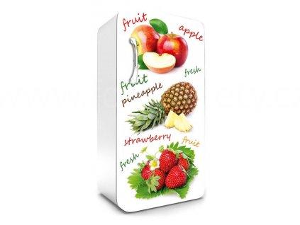 Samolepící fototapeta na lednici - Jablka, ananas, jahody, 65x120cm, 020