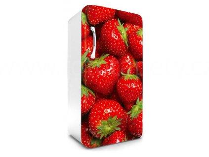 Samolepící fototapeta na lednici - Jahody, 65x120cm, 022