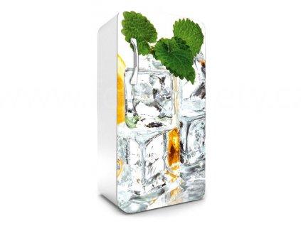 Samolepící fototapeta na lednici - Kostky ledu, 65x120cm, 023