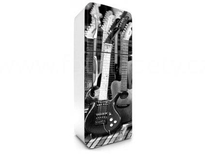 Samolepící fototapeta na lednici - Kytary, 65x180cm, 035