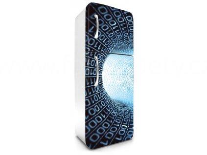 Samolepící fototapeta na lednici - Matrix tunel modrý, 65x180cm, 036