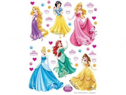 Dětská Disney samolepka na zeď Princezny, 42,5x65cm, DK 1760