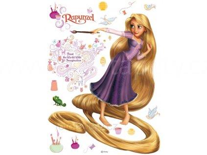Samolepící dekorace Na vlásku - princezna Rapunzel, 65x85cm, DK 854