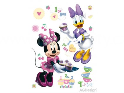 Dětská Disney samolepka na zeď Minnie peče, 65x85 cm, DK856