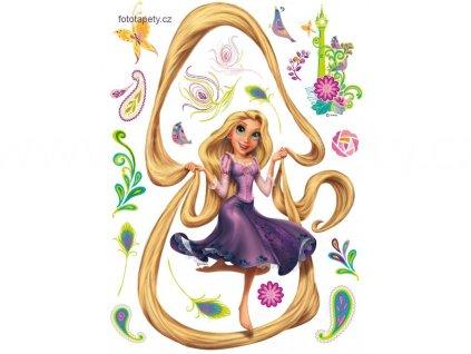 Dětská samolepka Na vlásku - Rapunzel, 65x85 cm, DK 863