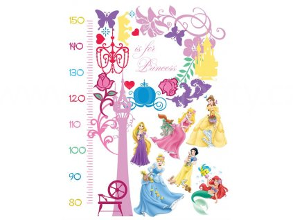 Samolepící metr pro děti Princezny, 65x85 cm, DK 893