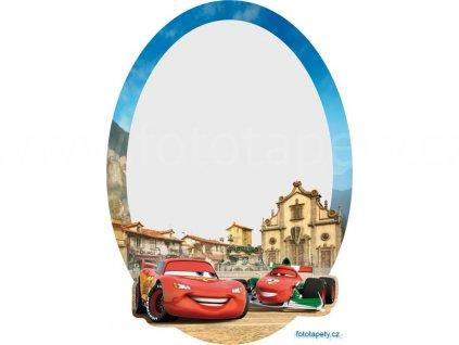 Samolepící zrcátko Disney - Auta ve Španělsku, 15x21,5cm