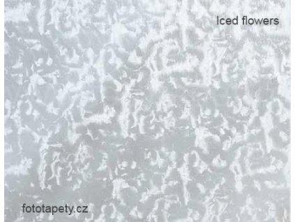 Transparentní samolepící folie, vzor Zmrzlé květy