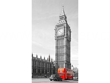 Foto závěs Big Ben and Double Decker, 140x245cm, FCPL 6528