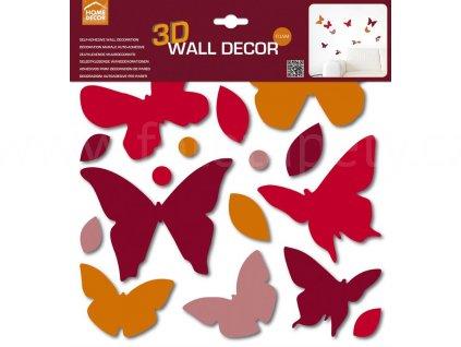 Pěnová samolepící dekorace Motýlci, 31x31cm, doprodej