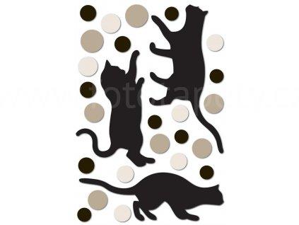 Pěnová samolepící dekorace Kočky, 47x70cm