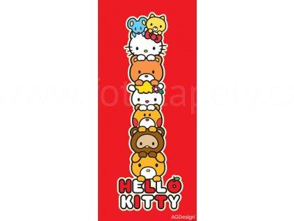 Jednodílná dětská fototapeta Hello Kitty a kamarádi FTD v 1530, rozměr 90x 202cm