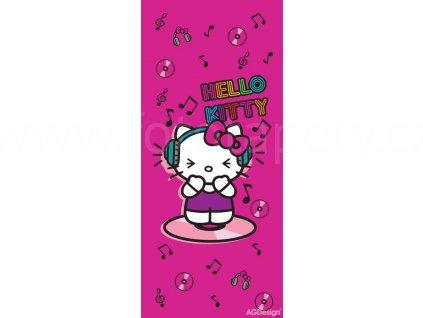 Jednodílná dětská fototapeta Hello Kitty a hudba FTD v 1531, rozměr 90x 202cm
