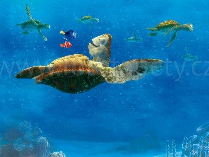 Čtyřdílná dětská Disney fototapeta Hledá se Nemo - želvy, FTDN xxl 5034, 360x270cm