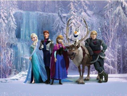 Čtyřdílná dětská Disney fototapeta Frozen - Ledové království, FTDN xxl 5037, 360x270cm