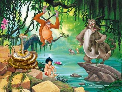 Čtyřdílná dětská Disney fototapeta Kniha džunglí FTDN xxl 5045, 360x270cm