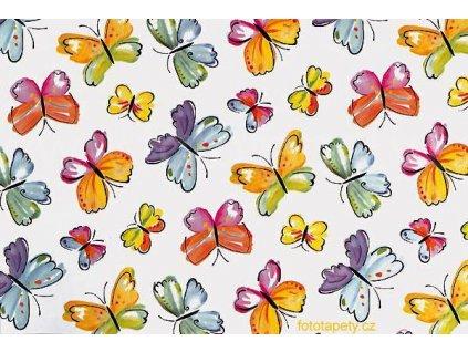 Samolepící tapeta dětský motiv Motýlci, šíře 45cm, Papillion