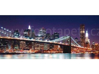 Panoramatická vliesová fototapeta Brooklynský most FTN h 2714, rozměr 202x90cm