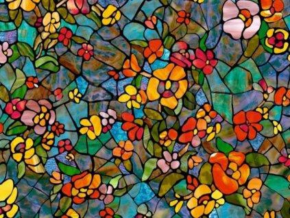 Samolepící transparentní fólie d-c-fix, vzor Zahrada