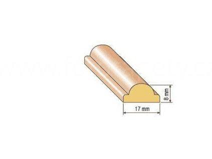 Dřevěná profilová lišta, 20, posledni kusy (Varianta borovice 1 metr)