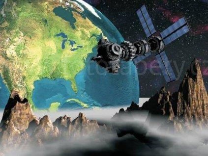 Čtyřdílná obrazová tapeta Kosmická loď FTS 0094, rozměr 364 x 254cm