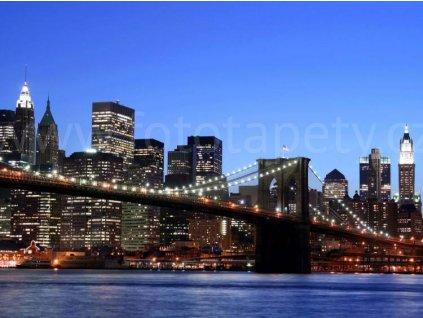 Čtyřdílná obrazová fototapeta Brooklynský most FTS 0107, rozměr 360 x 254cm