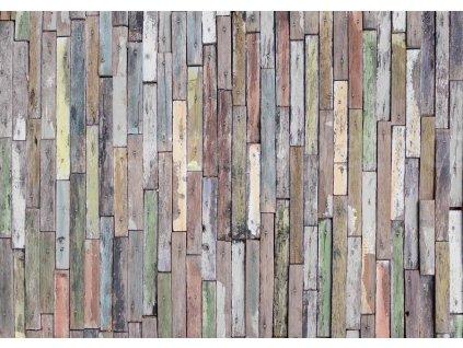 Čtyřdílná obrazová tapeta Dřevěné desky FTS 1321, rozměr 360 x 254cm
