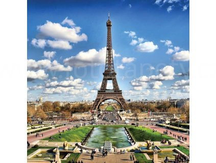 Třídílná vliesová fototapeta Paříž, rozměr 225x250cm, MS-3-0025