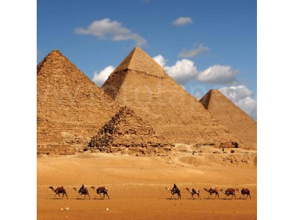 Třídílná vliesová fototapeta Egyptské pyramidy, rozměr 225x250cm, MS-3-0051