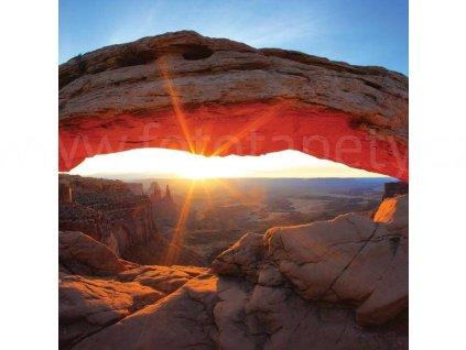 Třídílná vliesová fototapeta Oblouk Mesa, rozměr 225x250cm, MS-3-0053