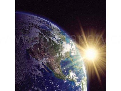 Třídílná vliesová fototapeta Země, rozměr 225x250cm, MS-3-0190
