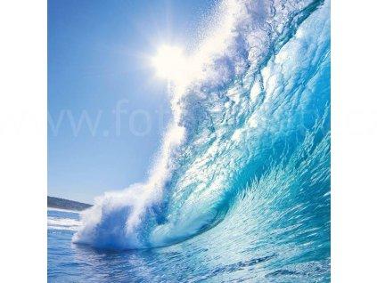 Třídílná vliesová fototapeta Vlny, rozměr 225x250cm, MS-3-0214