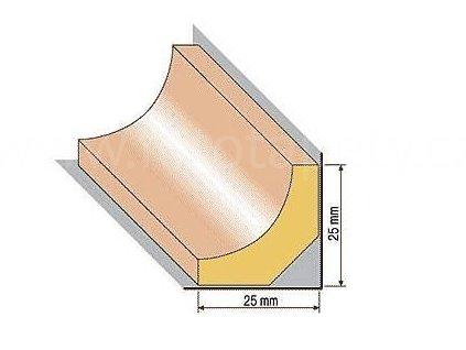 Dřevěná profilová lišta, 35 (Varianta borovice 1 metr)