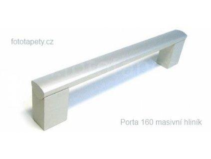 kovová úchytka PORTA - eloxovaný hliník, 96,128,160,192,224,320,432,532,736,832,960