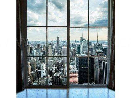 Třídílná vliesová fototapeta Pohled na Manhattan, rozměr 225x250cm, MS-3-0009
