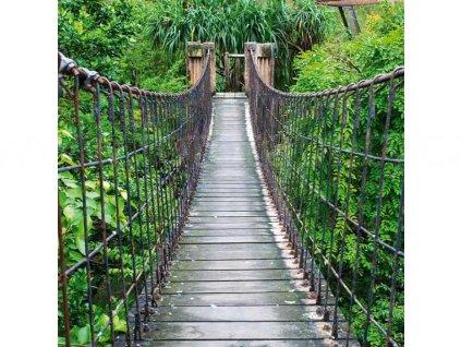 Třídílná vliesová fototapeta Most přes řeku, rozměr 225x250cm, MS-3-0084