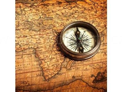 Třídílná vliesová fototapeta Kompas, rozměr 225x250cm, MS-3-0264