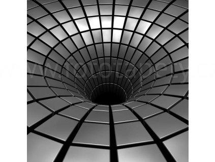 Třídílná vliesová fototapeta Stříbrná díra, rozměr 225x250cm, MS-3-0278