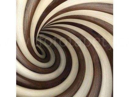 Třídílná vliesová fototapeta Twisted tunel, rozměr 225x250cm, MS-3-0277