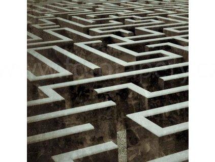 Třídílná vliesová fototapeta Labyrint, rozměr 225x250cm, MS-3-0279