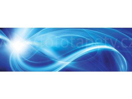 Dvoudílná vliesová fototapeta Modrý abstrakt, rozměr 375x150cm, MP-2-0288
