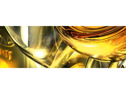 Dvoudílná vliesová fototapeta Zlaté víření, rozměr 375x150cm, MP-2-0291